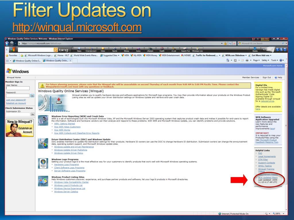 Filter Updates