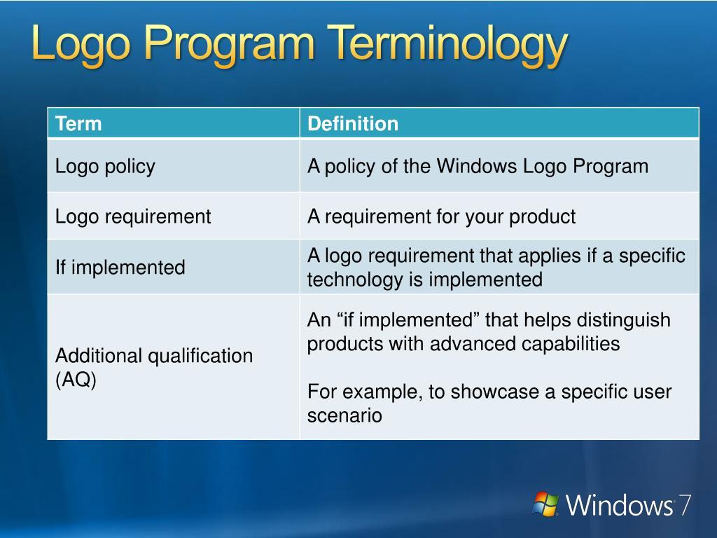 Logo Program Terminology