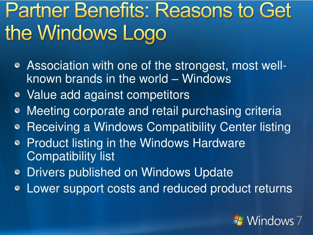 Partner Benefits: Reasons to Get the Windows Logo