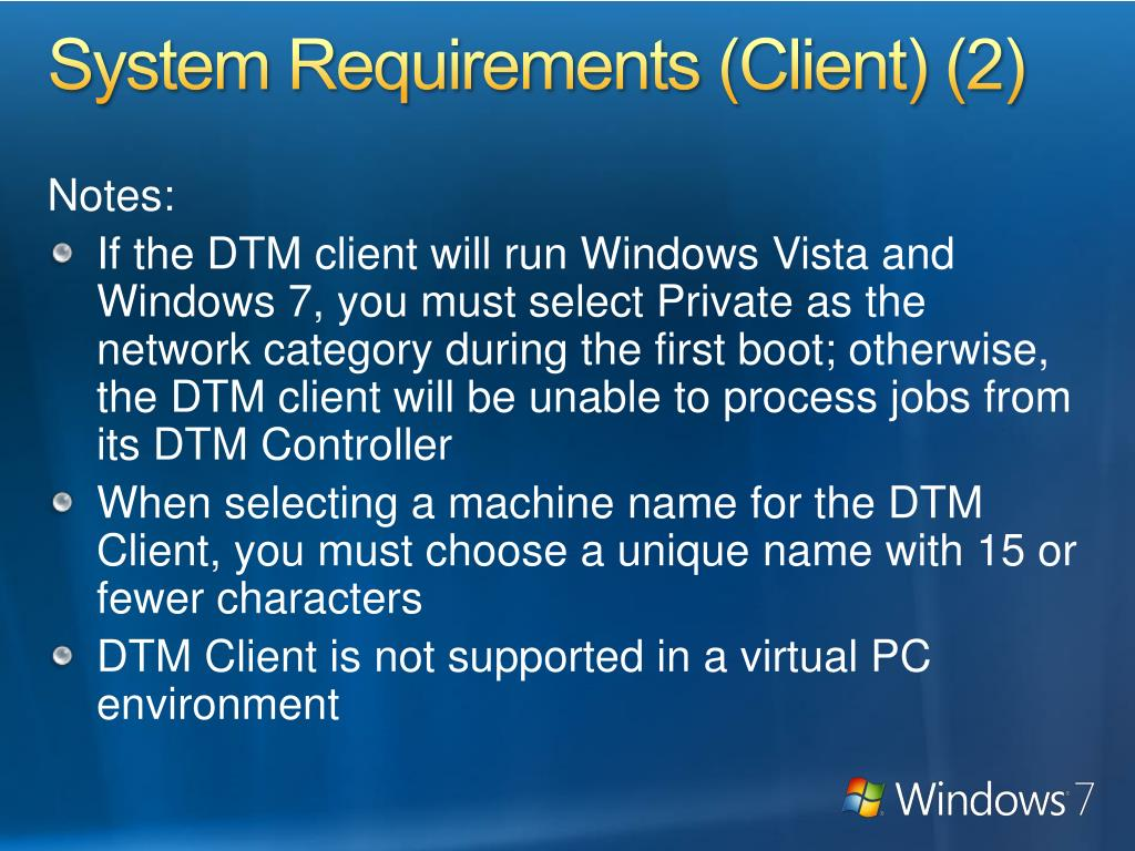 System Requirements (Client) (2)