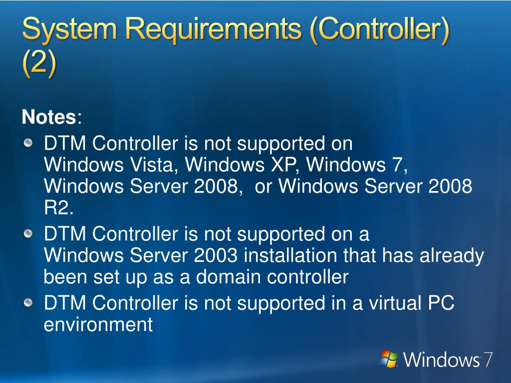 System Requirements (Controller) (2)