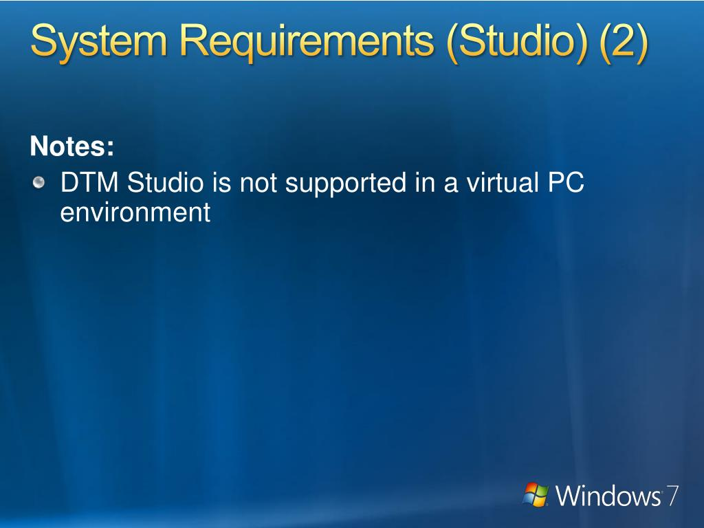 System Requirements (Studio) (2)