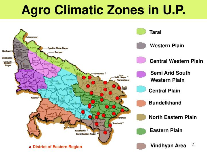 Agro Climatic Zones in U.P.