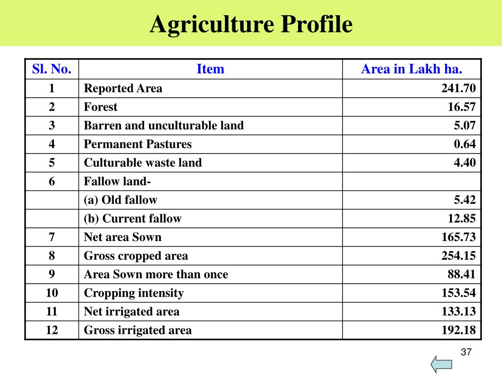 Agriculture Profile