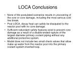 loca conclusions