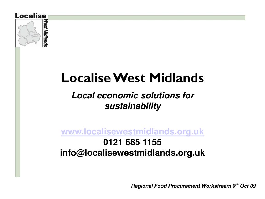 Localise West Midlands