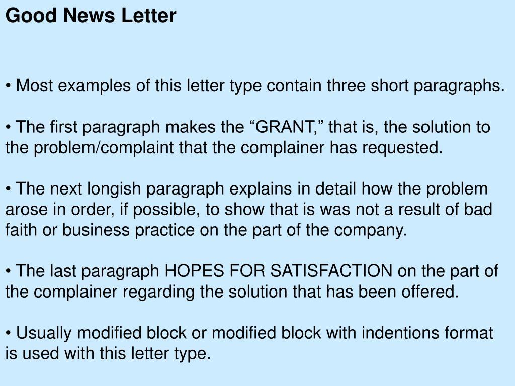 Good News Letter