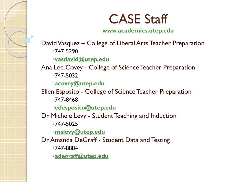 CASE Staff