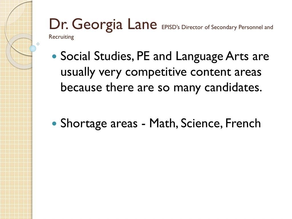 Dr. Georgia Lane
