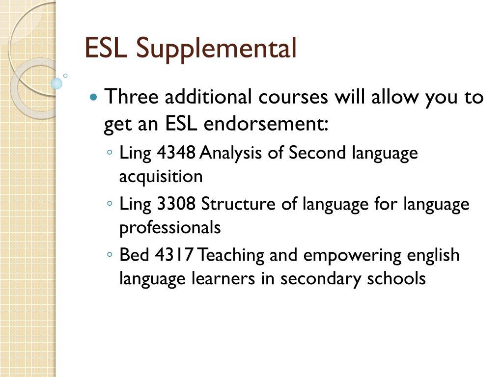 ESL Supplemental