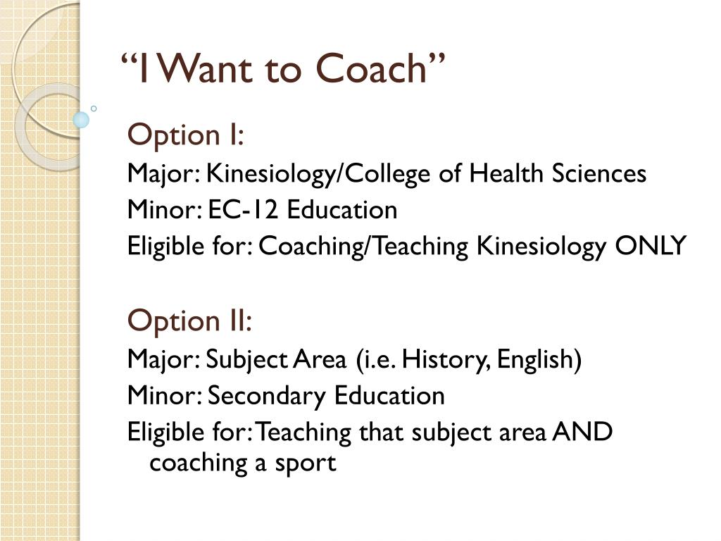 """""""I Want to Coach"""""""