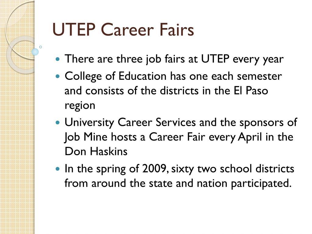 UTEP Career Fairs