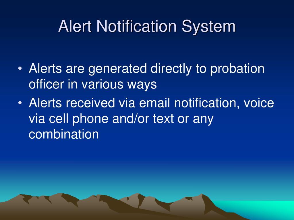 Alert Notification System