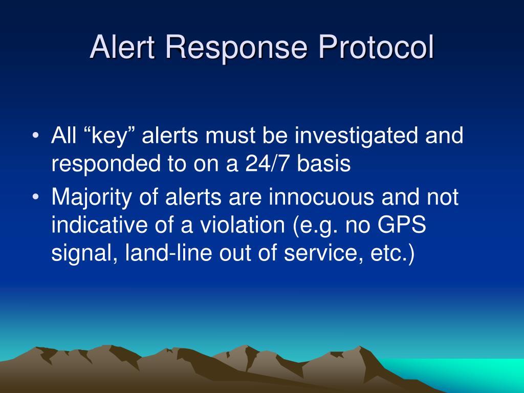 Alert Response Protocol