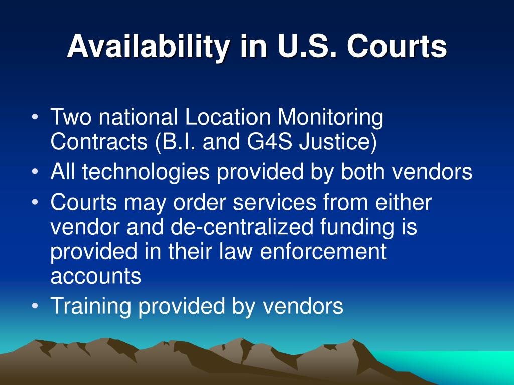 Availability in U.S. Courts