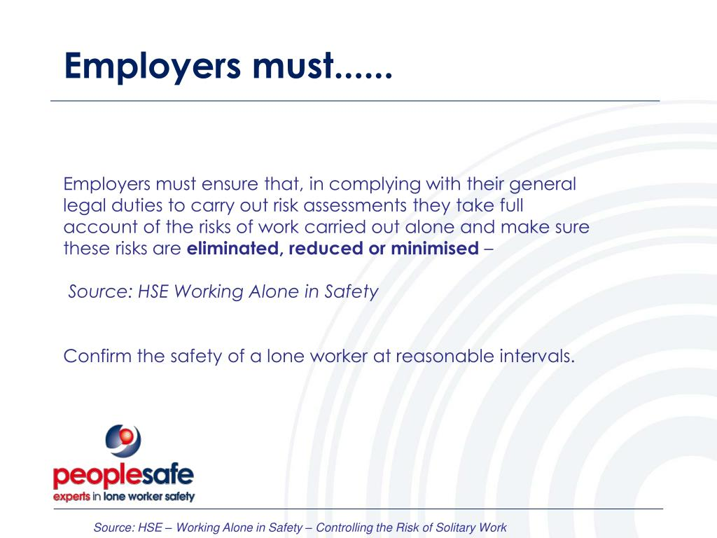 Employers must......