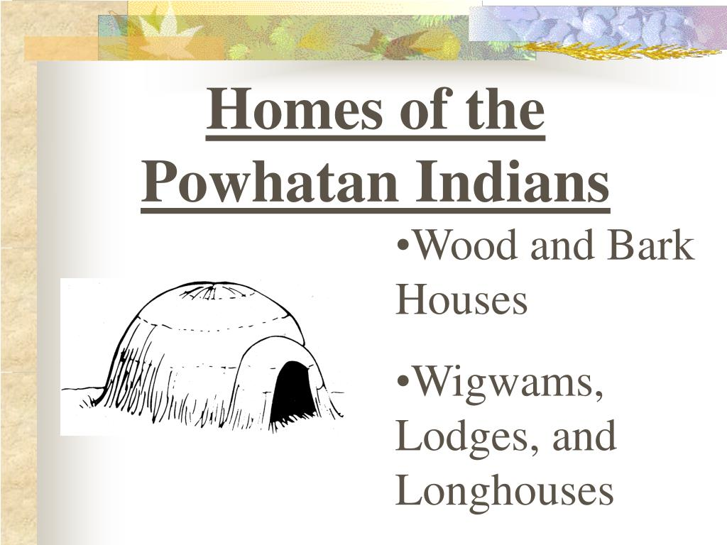 Homes of the Powhatan Indians