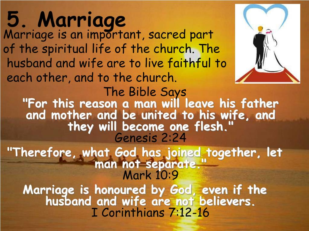 5. Marriage