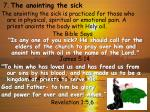 7 the anointing the sick
