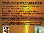 the eucharist holy communion