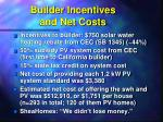 builder incentives and net costs