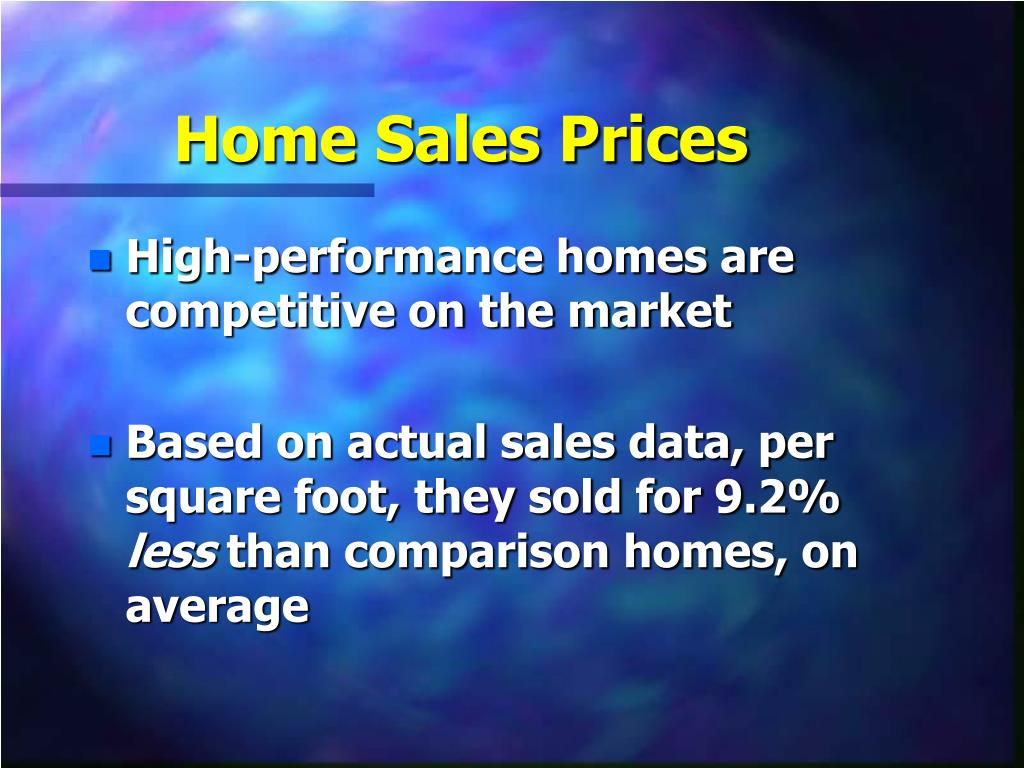 Home Sales Prices