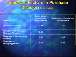 important factors in purchase decision concluded