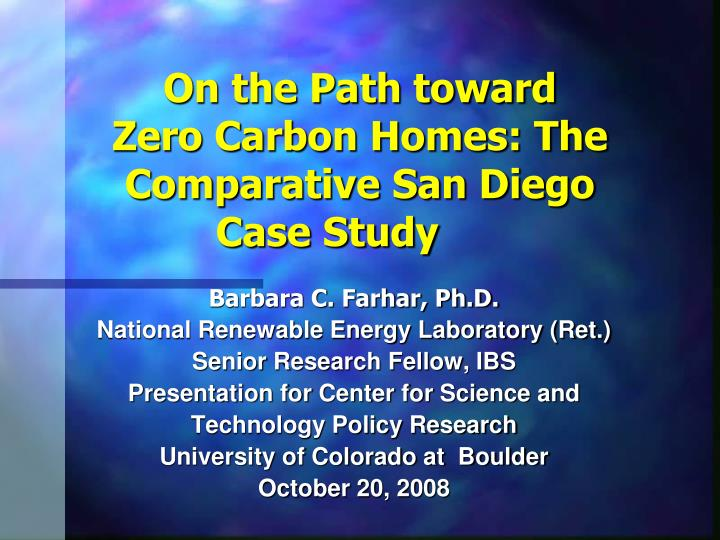 On the path toward zero carbon homes the comparative san diego case study l.jpg
