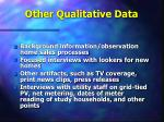 other qualitative data