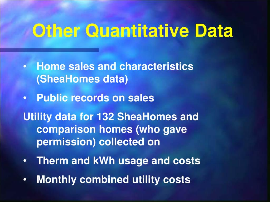 Other Quantitative Data
