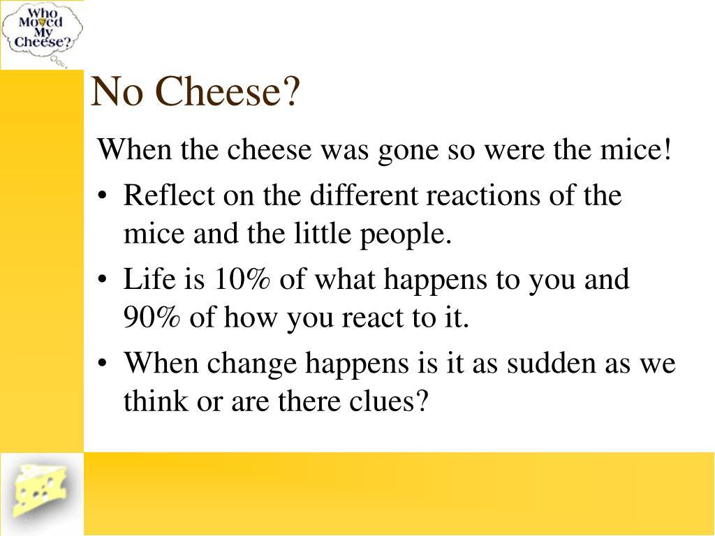 No Cheese?