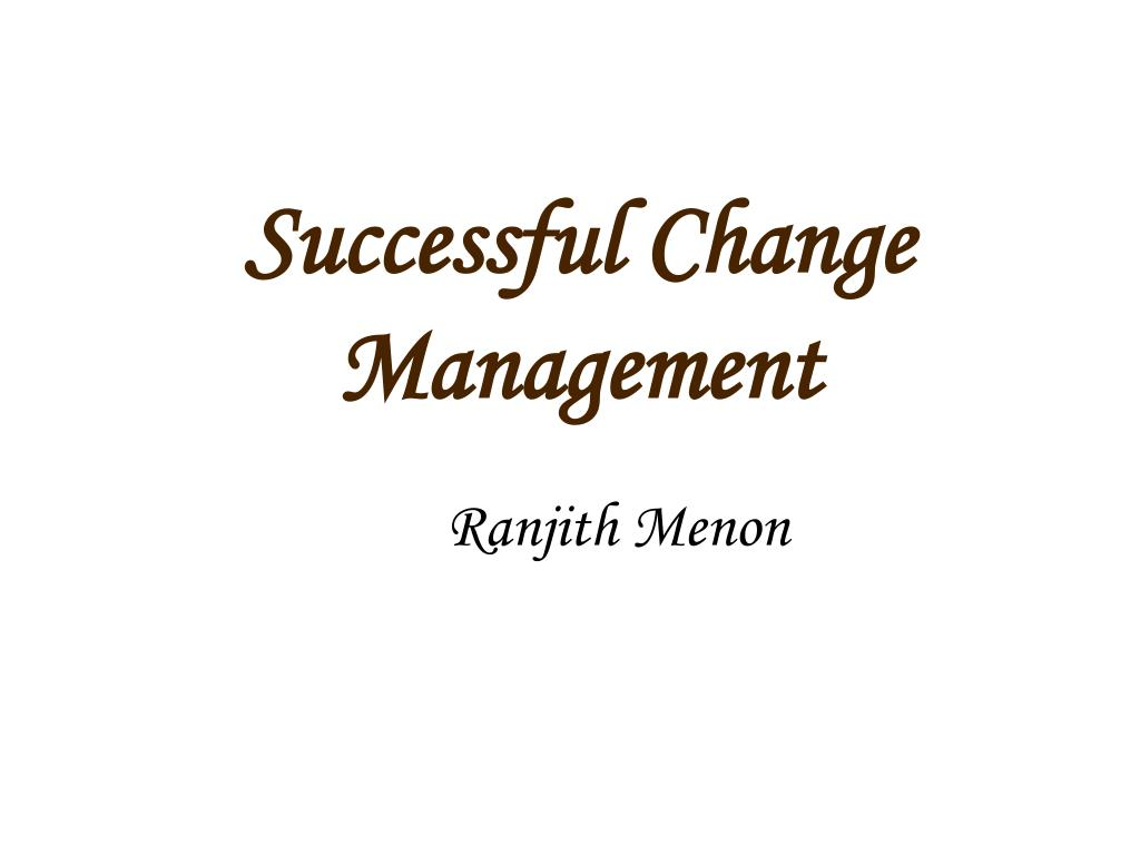 successful change management