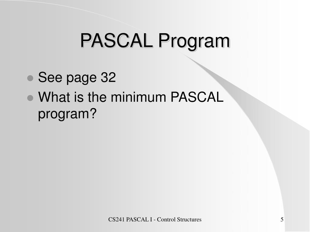 PASCAL Program