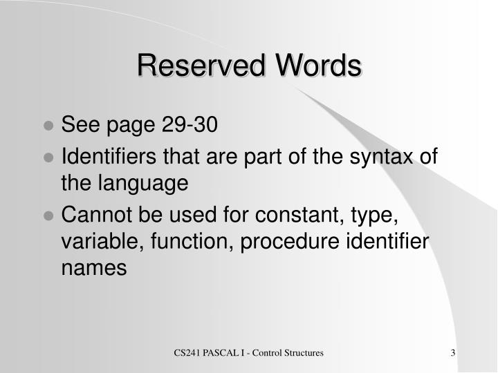 Reserved words l.jpg