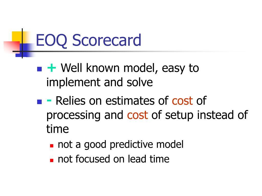 EOQ Scorecard