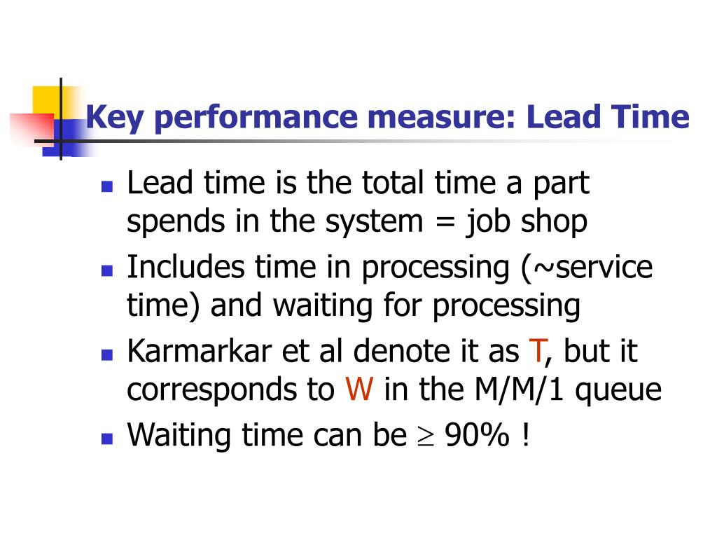 Key performance measure: Lead Time