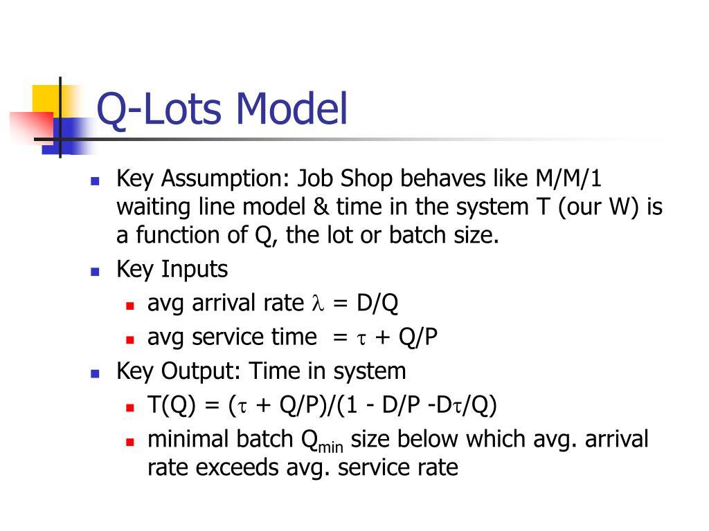 Q-Lots Model