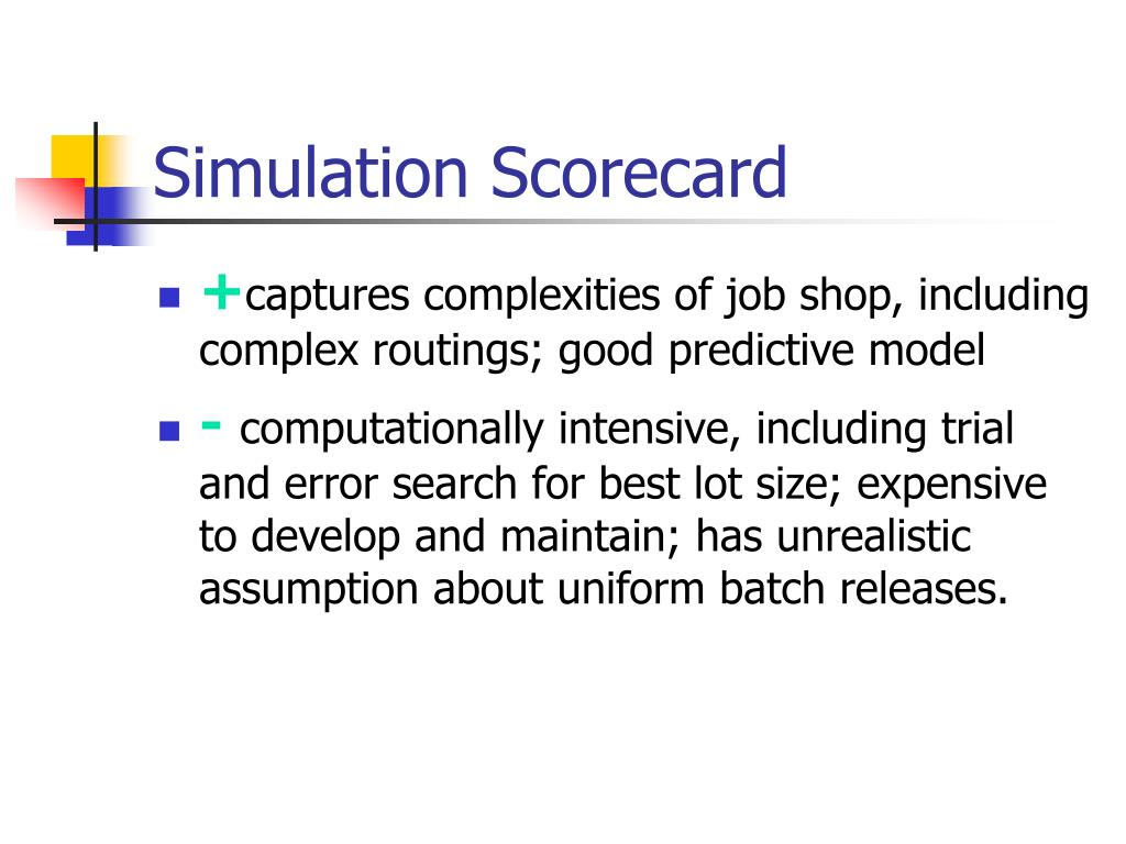 Simulation Scorecard