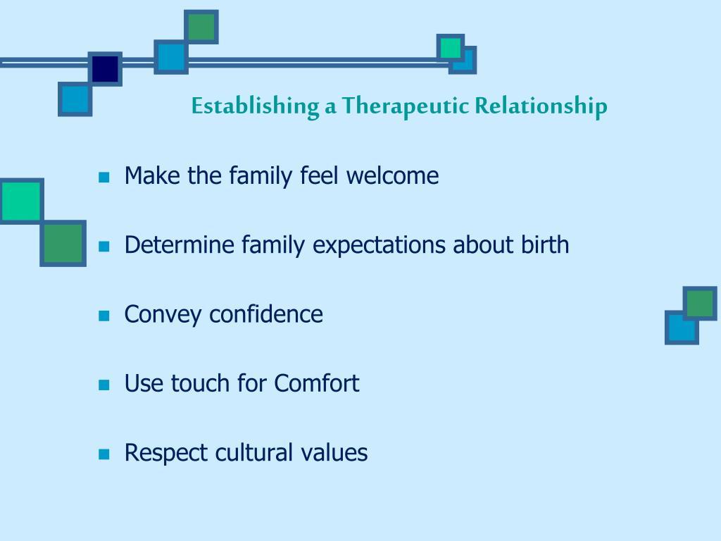 establishing a therapeutic relationship video