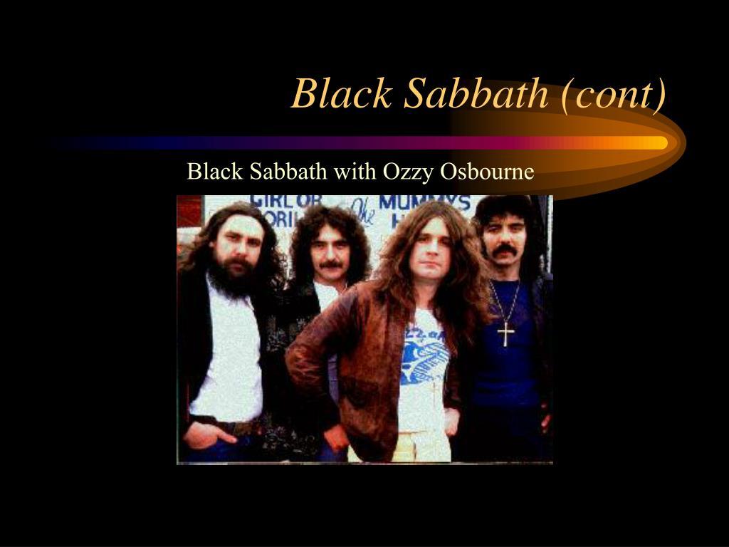 Black Sabbath (cont)