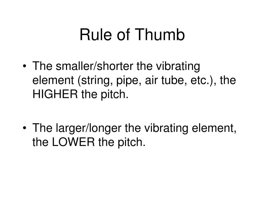 Rule of Thumb