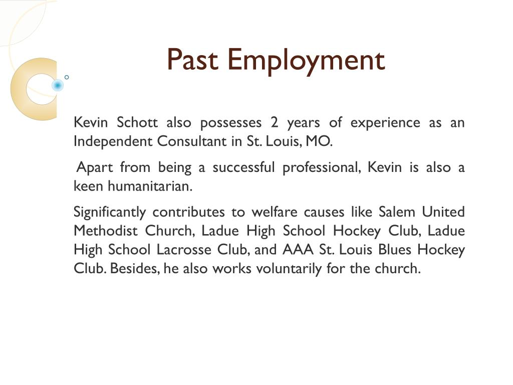 Past Employment