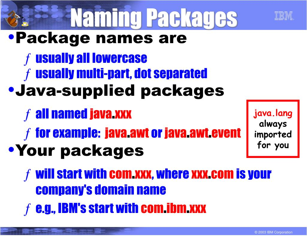 Naming Packages