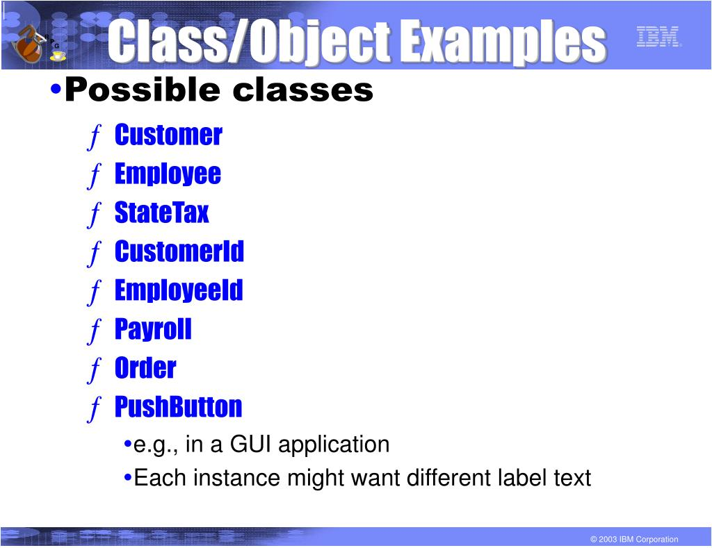 Class/Object Examples