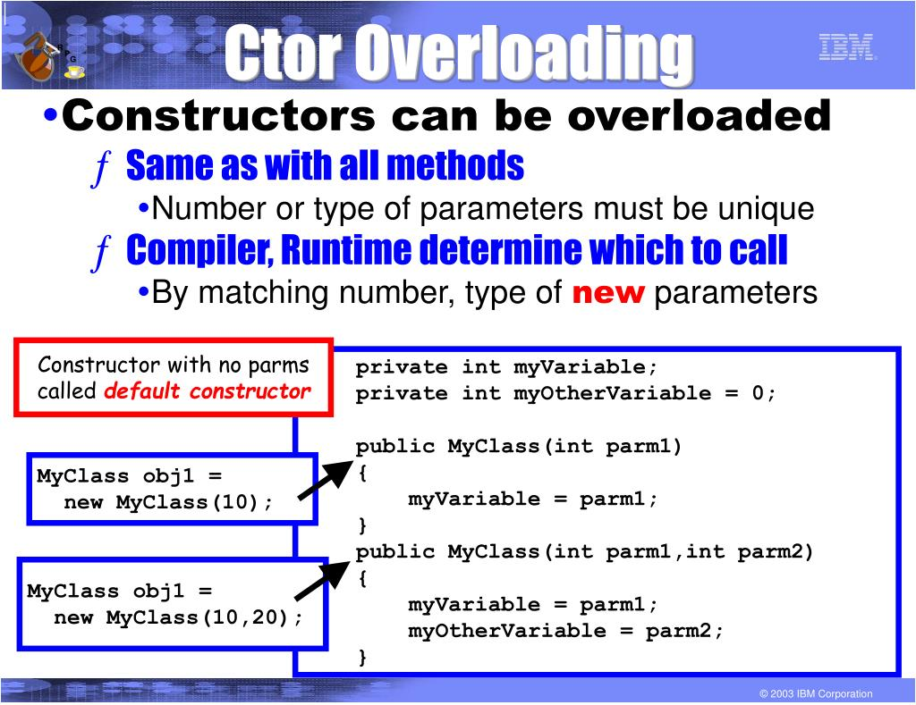 Ctor Overloading