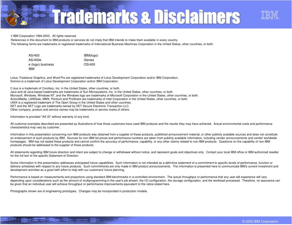 Trademarks & Disclaimers