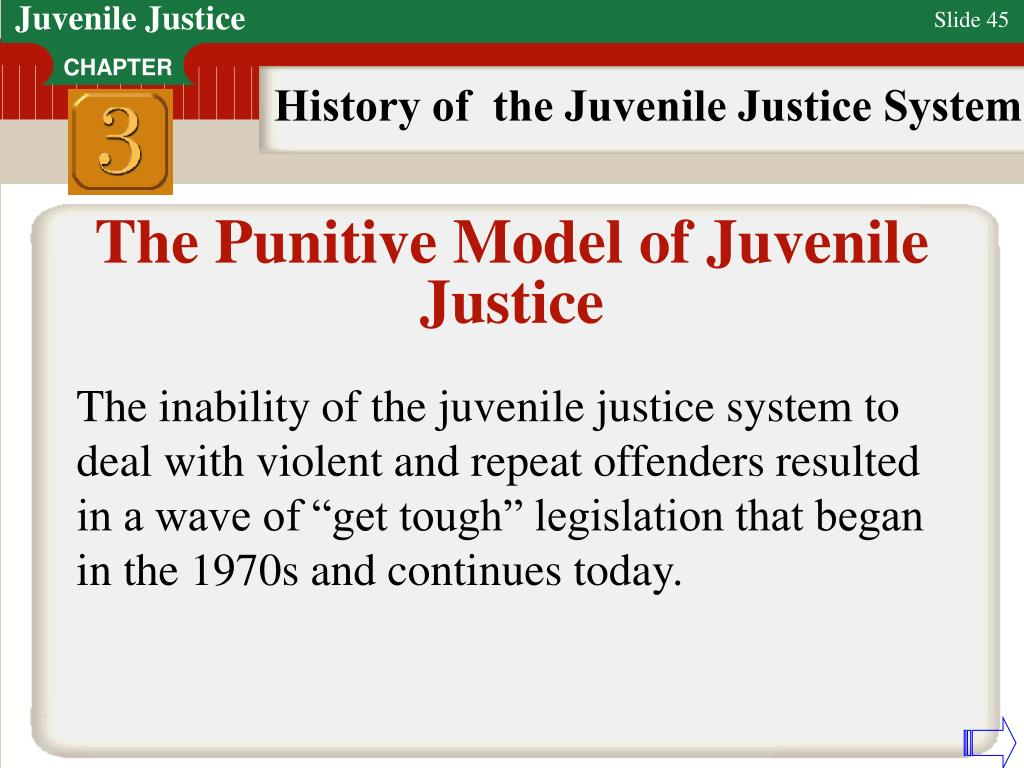 history and future juvenile justice system The future of youth justice to reorient this broken system casey has found clear evidence of recurring or systemic maltreatment of youth in juvenile.