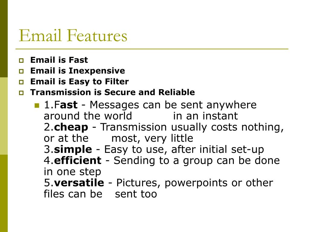Email Features