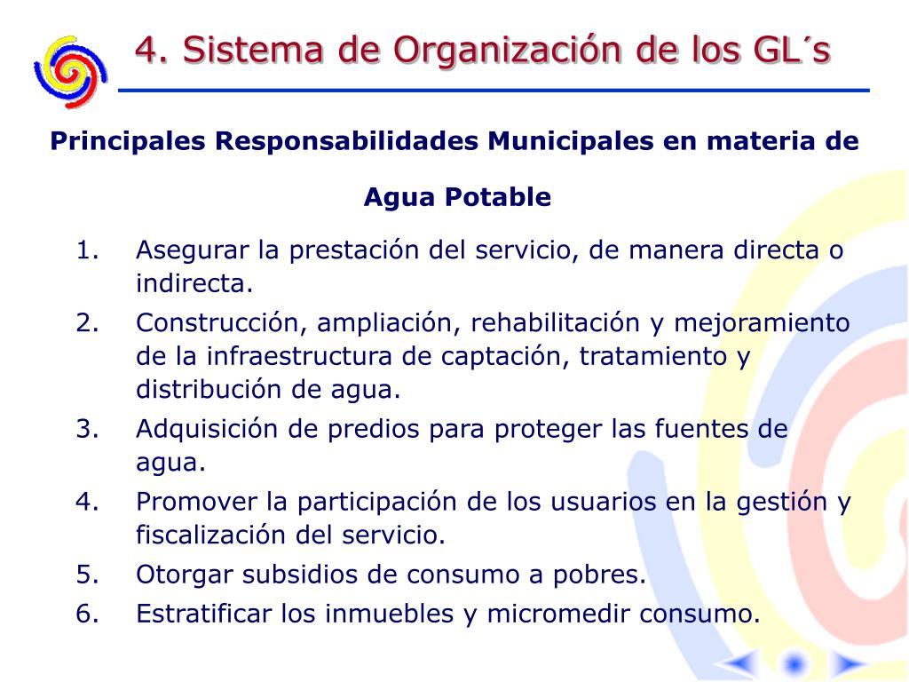 4. Sistema de Organización de los GL´s