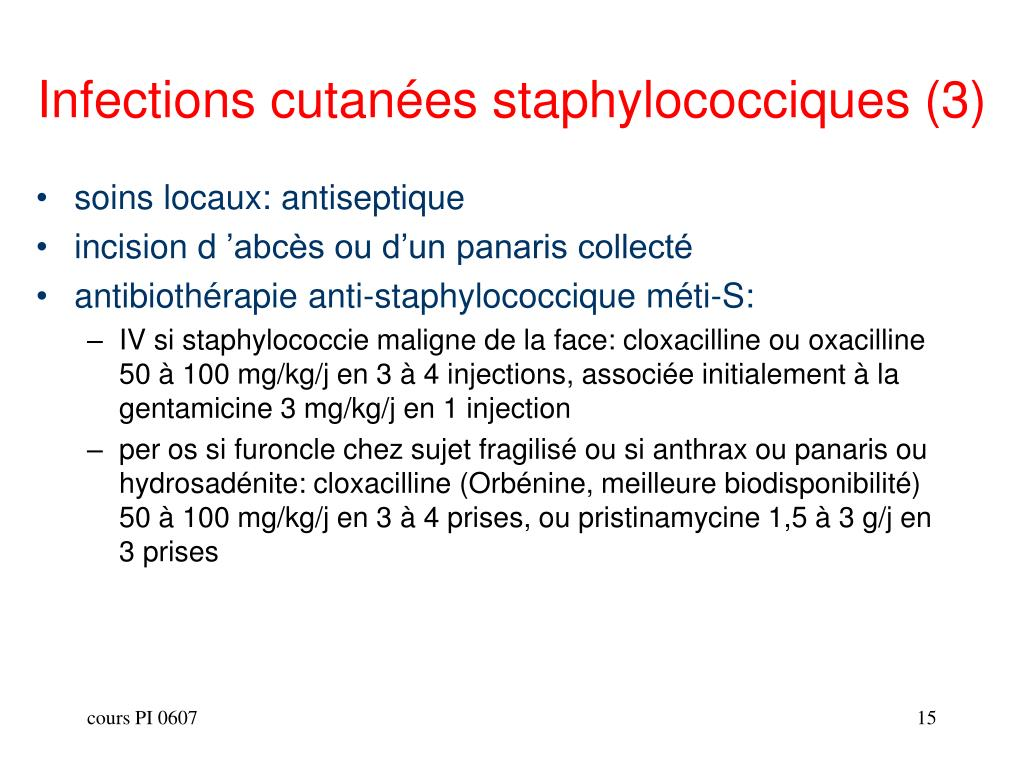 Infections cutanées staphylococciques (3)